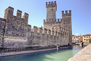 Ditch Framed Prints - Scaliger castle wall of Sirmione in Lake Garda Framed Print by Joana Kruse