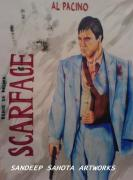Kama Sutra Paintings - Scarface by Sandeep Kumar Sahota