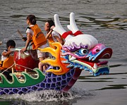Rowers Photos - Scene from the Dragon Boat Races in Kaohsiung Taiwan by Yali Shi