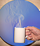 Coffee Mug Prints - Schlieren Image Of Hot Coffee Cup Print by Ted Kinsman