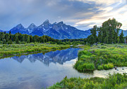 Thunderstorm Framed Prints - Schwabacher Landing - Grand Teton National Park Framed Print by Gary Whitton