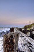 Beach Photograph Posters - Seawall  Poster by Drew Castelhano