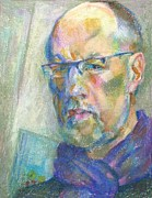 Self Portrait Pastels Posters - Self-portrait Poster by Leonid Petrushin