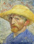 Anxiety Posters - Self Portrait Poster by Vincent van Gogh