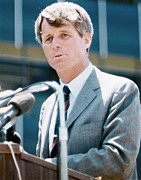 1960s Candids Posters - Senator Robert F. Kennedy Poster by Everett