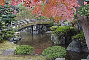 Garden Scene Metal Prints - Sento Imperial Palace Gardens Lake Metal Print by Rob Tilley