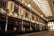 Ripper Prints - Sepia Toned image of Leadenhall Market London Print by David Pyatt