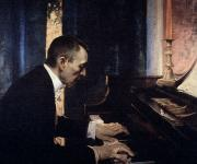 Pianist Metal Prints - Sergei Rachmaninoff Metal Print by Granger