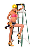 Yellow Hammer Posters - Sexy Construction Worker Poster by Bobby Deal