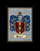 Coat Of Arms Paintings - Shapiro Coat of Arms by Herb Strobino