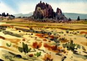 Plein Air Originals - Shiprock by Donald Maier