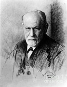 Bad Drawing Photo Posters - Sigmund Freud, Father Of Psychoanalysis Poster by Photo Researchers
