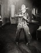 Cowboy Hat Framed Prints - Silent Film Still: Cowboys Framed Print by Granger