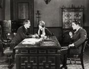 Offices Framed Prints - Silent Film Still: Offices Framed Print by Granger