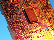 Processor Prints - Silicon Chip Print by Tek Image