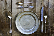 Silver Framed Prints - Silver Flatware Framed Print by Joana Kruse