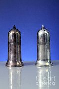 Comparison Framed Prints - Silver Salt And Pepper Shakers, One Framed Print by Photo Researchers, Inc.