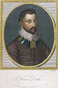 Knighted Metal Prints - Sir Francis Drake, English Explorer Metal Print by Photo Researchers