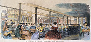 American City Prints - Skirt Factory, 1859 Print by Granger