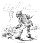 Black Commerce Art - Slave Labor, 1857 by Granger
