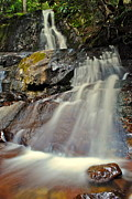 Family Picnic Prints - Smoky Mountain Falls Print by Robert Harmon