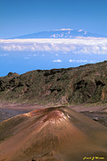 Elevation Framed Prints - Snow On Mauna Kea Framed Print by Frank Wicker