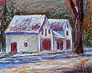 Snow Pastels Originals - Snow Storm by Joyce A Guariglia