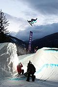 Telus Prints - Snowboarder at the Telus snowboard festival Whistler 2010 Print by Pierre Leclerc