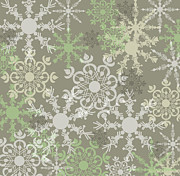 Snowflakes Posters - Snowflakes Poster by HD Connelly
