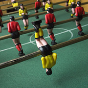 Miniatures Photos - Soccer by Bernard Jaubert