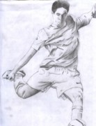 Soccer Drawings Originals - Soccer by Daniel Kabugu