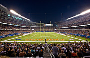Chicago Bears Framed Prints - Soldier Field Chicago Framed Print by Steve Sturgill