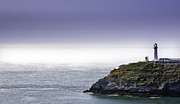 Tidal Photographs Posters - South Stack Lighthouse Poster by Gary Finnigan
