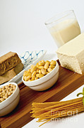 Tofu Posters - Soy Products Poster by Photo Researchers