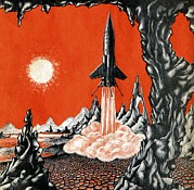 Rock Star Art Art - Space Exploration Science-fiction Artwork by Cci Archives