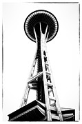 Space Needle Framed Prints - Space Needle Framed Print by Tanya Harrison