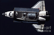 Docking Prints - Space Shuttle Discovery Print by Nasa