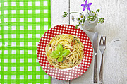 Noodles Photo Framed Prints - Spaghetti al Pesto Framed Print by Joana Kruse