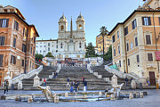 Trinity Prints - spanish steps in Rome Print by Joana Kruse