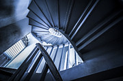 Staircase Prints - Spiral Stairway Print by Setsiri Silapasuwanchai