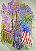 Fourth Of July Painting Framed Prints - Spring Glory Framed Print by Nancy Brennand