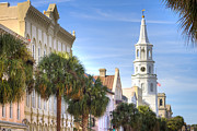 Sc Prints - St Michaels Church Charleston SC Print by Dustin K Ryan