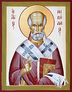St Nicholas Of Myra Painting Framed Prints - St Nicholas of Myra Framed Print by Julia Bridget Hayes