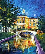 Canal Street Paintings - St Petersburg by Leonid Afremov