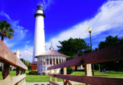 St. Simons Island Art - St Simons Island Lighthouse by Thomas R Fletcher