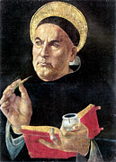 15th Century Prints - St. Thomas Aquinas Print by Granger