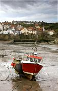 Of Water-dwelling Prints - Staithes, North Yorkshire, England Print by John Short