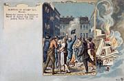 Colonial Man Photos - Stamp Act Riot, 1765 by Granger