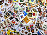 Postage Stamps Posters - Stamp Collection Poster by Patricia Januszkiewicz