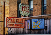 Stockyards Prints - 2 Star Cafe Print by Fred Lassmann